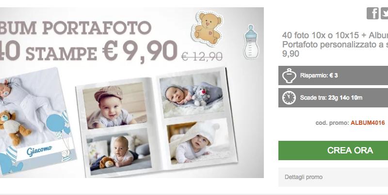 Album portafoto + 40 stampe