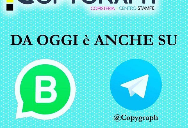 Contattaci anche su WhatsApp o Telegram