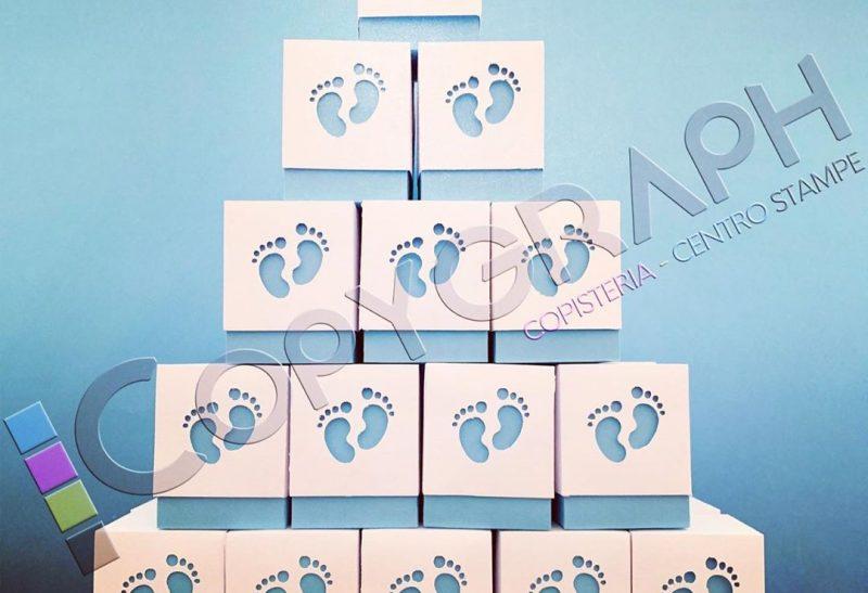 Scatoline porta confetti per nascita