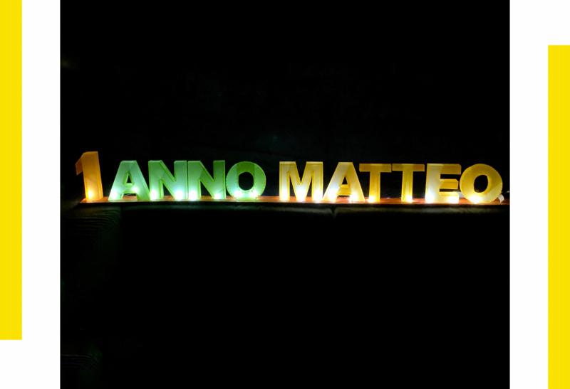 Lettere 3D con illuminazione