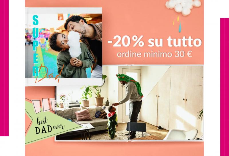 -20% su tutti i prodotti Photosi per la festa del papà